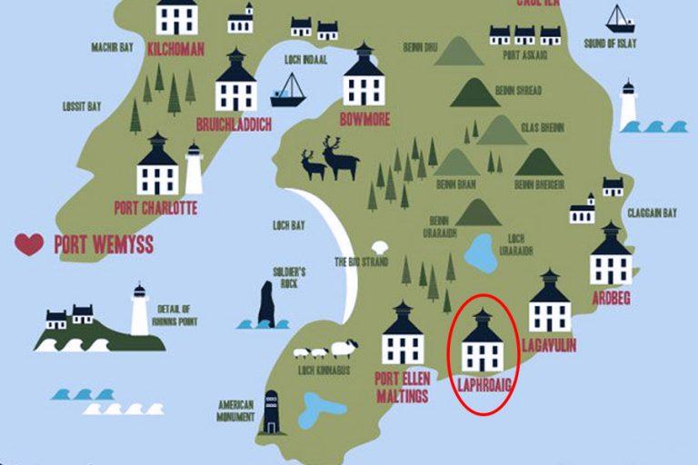 Destilarna Laphroaig- Islay
