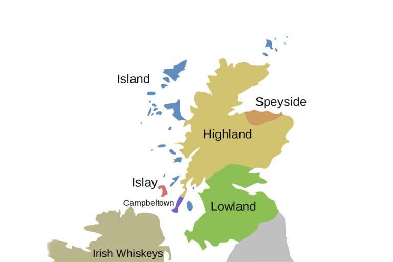 Škotske regije- mapa